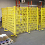 Industrial security gates protecting equipment