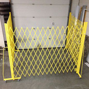 Portable shipping dock gates
