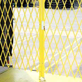safety yellow gates to prevent accidental falls